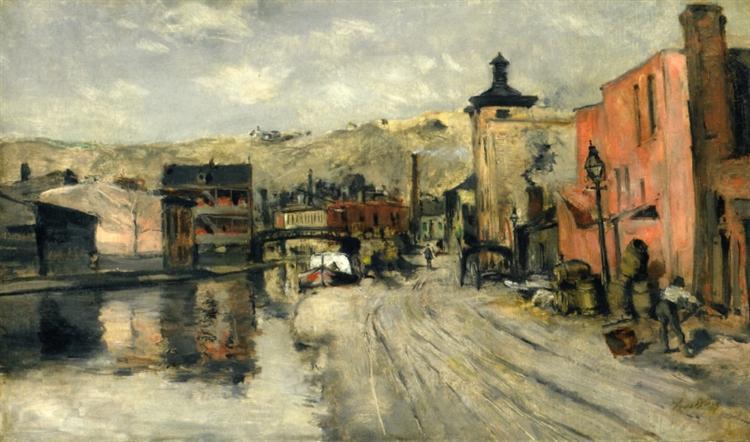 Miami Canal, Cincinnati, c.1874 - John Henry Twachtman