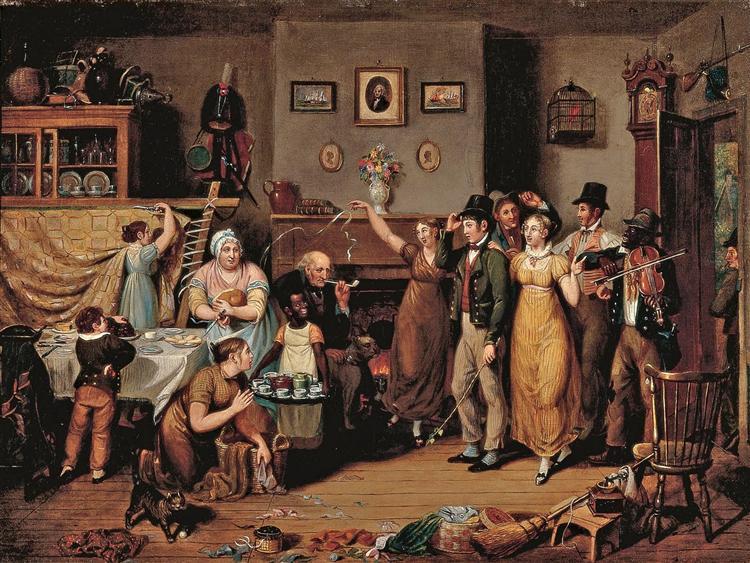 The Quilting Frolic, 1813 - John Lewis Krimmel