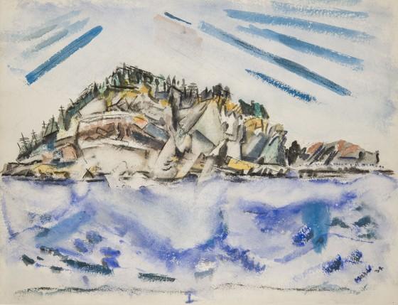 Island (Ship's Stern), 1934 - John Marin