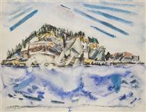 Island (Ship's Stern) - John Marin