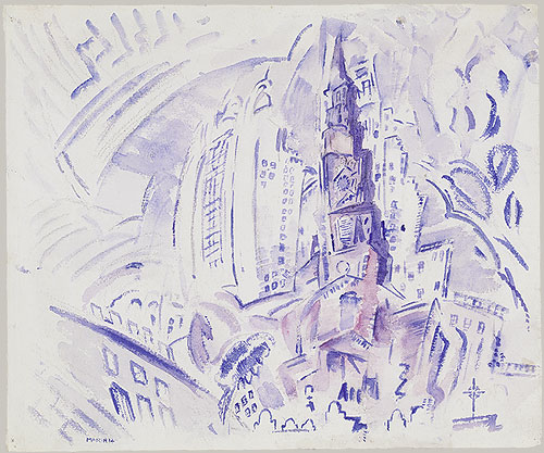 St. Paul's, Manhattan, 1914 - John Marin