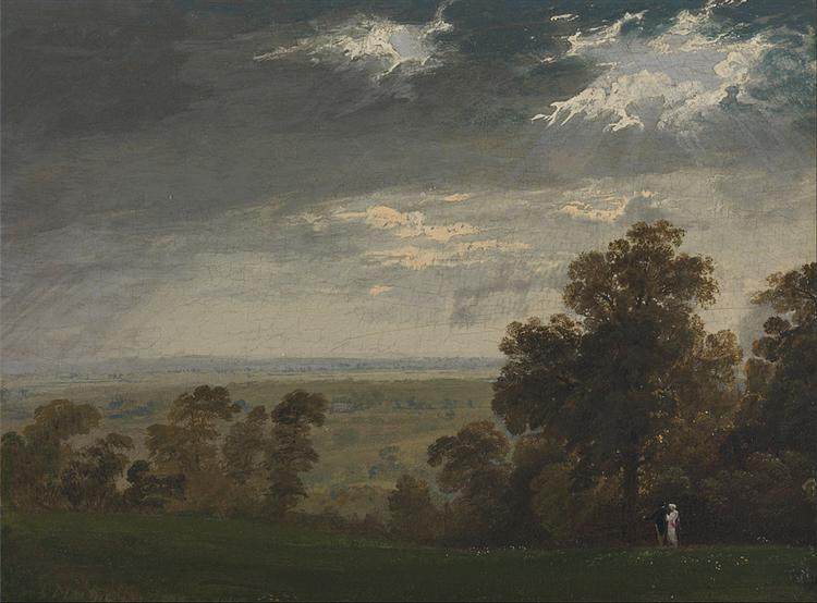 Landscape, Possibly the Isle of Wight or Richmond Hill, 1815 - John Martin