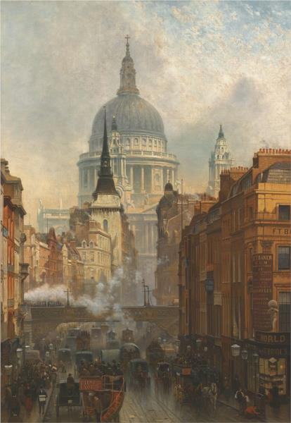 Ludgate, Evening - John O'Connor