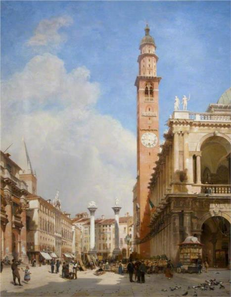 The Market Place, Vicenza, 1881 - John O'Connor