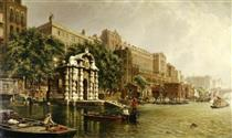 York Watergate and the Adelphi from the River, London - John O'Connor