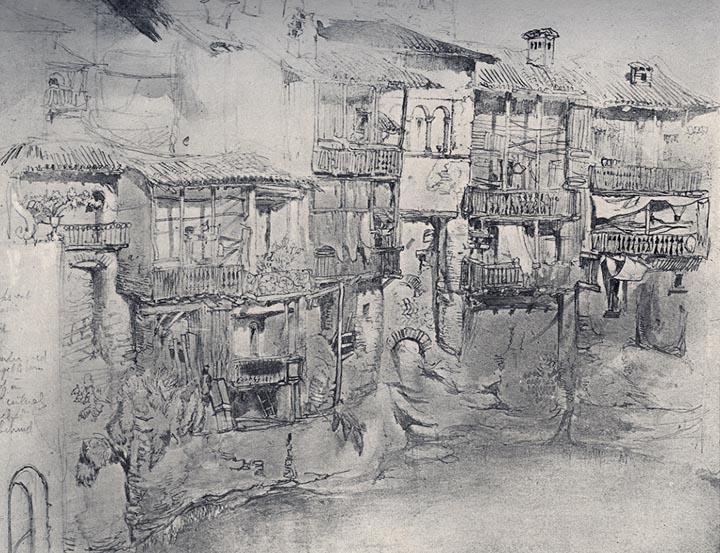 An Italian Village, 1845 - John Ruskin