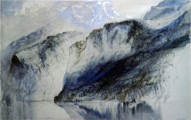 Bay of Uri, Lake of Lucerne, 1858 - John Ruskin