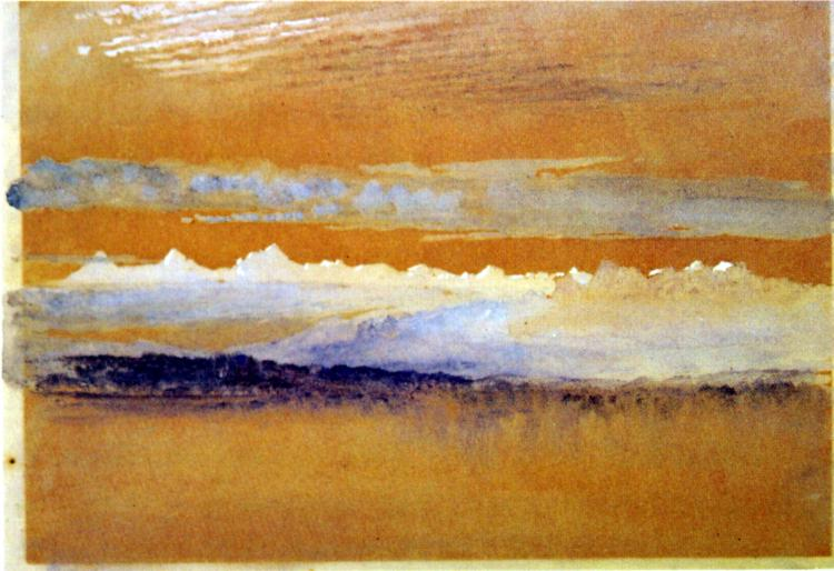 Dawn at Neuchatel, 1866 - John Ruskin