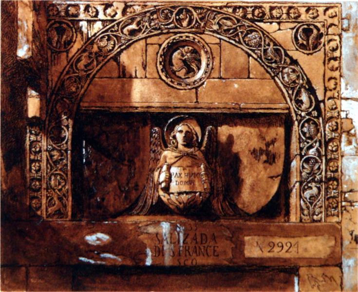 Doorhead from Ca Contarini, 1851 - John Ruskin