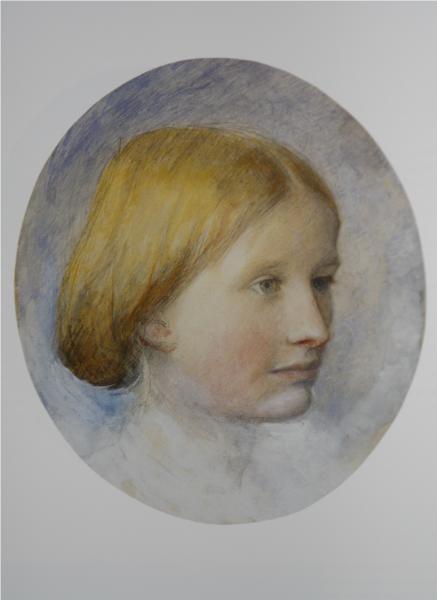 Portrait of Rose La Touche, 1861 - 約翰·拉斯金