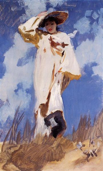 A Gust of Wind, c.1886 - c.1887 - John Singer Sargent