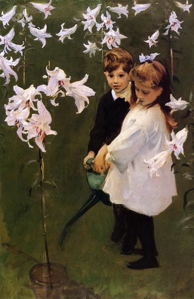 Garden Study of the Vickers Children, 1884 - John Singer Sargent