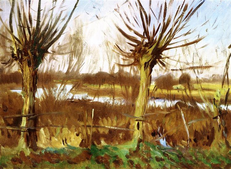 Landscape with trees, Calcot-on-the-Thames, c.1888 - Джон Сингер Сарджент