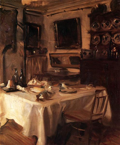 My Dining Room C 1885 John Singer Sargent Wikiart Org