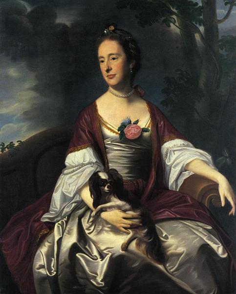 Mrs. Jerathmael Bowers, c.1763 - John Singleton Copley