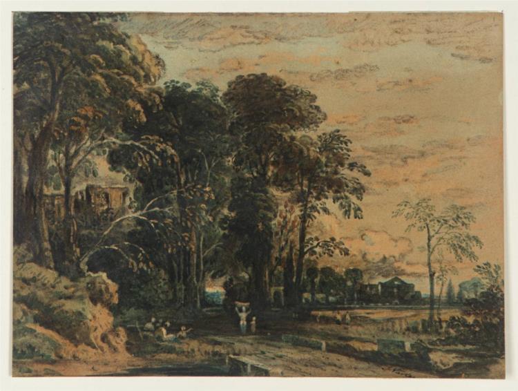 Avenue and Castle, 1831 - John Varley