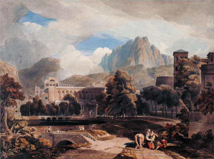 Suburbs of an Ancient City, 1808 - John Varley