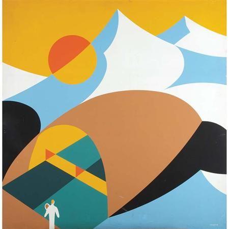 Abstract Design of a Mountanous Landscape - John Vassos