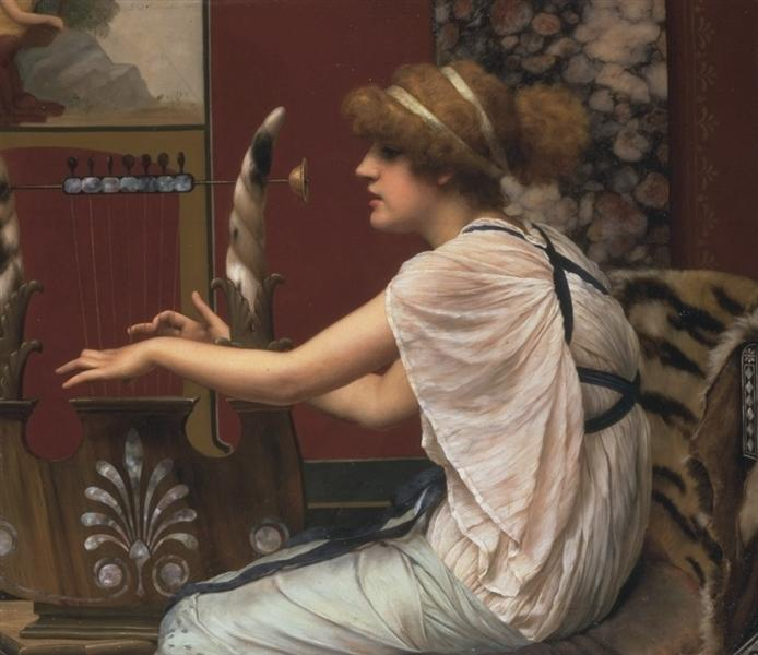The Muse Erato at her Lyre, 1895 - John William Godward
