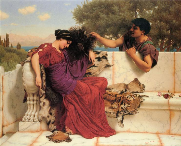 John William Godward - Page 3 The-old-old-story-1903.jpg!Large