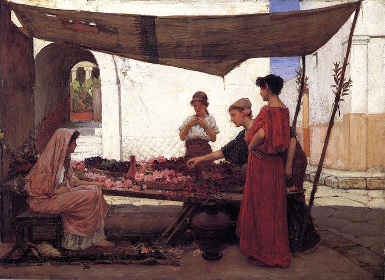 A Flower Stall, 1880 - John William Waterhouse