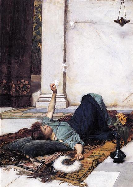 Its sweet doing nothing, 1879 - John William Waterhouse