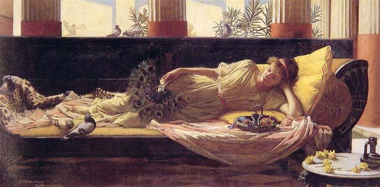 Its sweet doing nothing, 1880 - John William Waterhouse