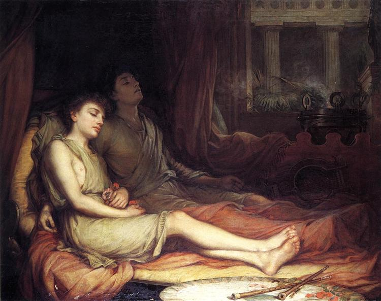 Sleep and His Half Brother Death, 1874 - Джон Вільям Вотерхаус