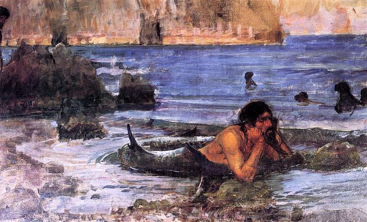 The Merman, c.1892 - Джон Вільям Вотерхаус