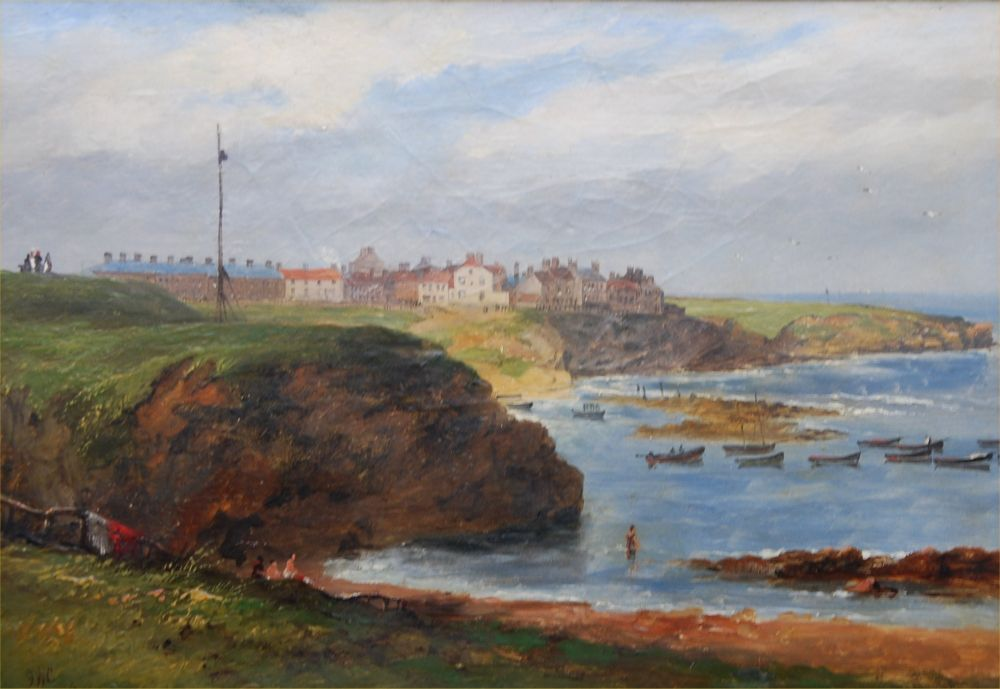Cullercoats from the South by John Wilson Carmichael, 1845