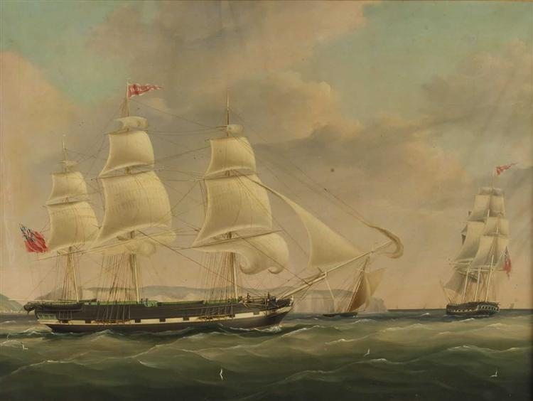 The Ship Isabella at Sea - John Wilson Carmichael