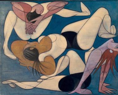Acrobats, 1947 - Хосе де Альмада Негрейрос