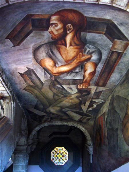 Ceiling of Colegio de San Ildefonso, 1926 - Jose Clemente Orozco