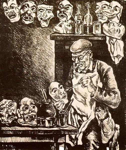 The Designer of Masks, 1935 - Jose Gutierrez Solana