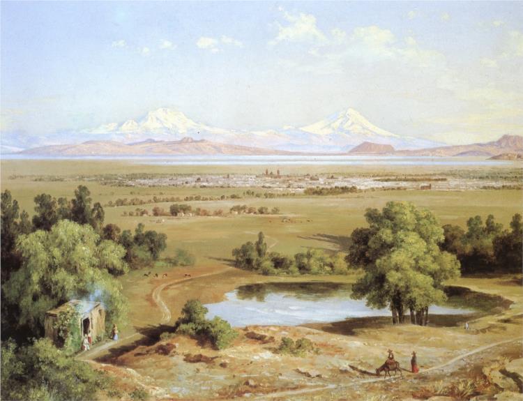 Árboles del pirú del Tepeyac, 1905 - Jose Maria Velasco