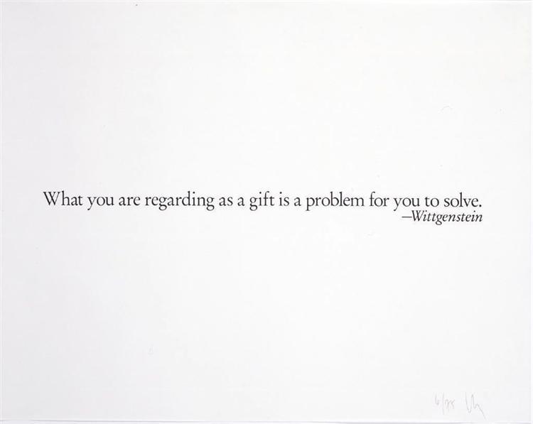 Ex-Libris (Wittgenstein's Gift), 1990 - Joseph Kosuth
