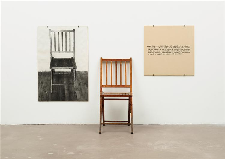 One and Three Chairs, 1965 - Joseph Kosuth