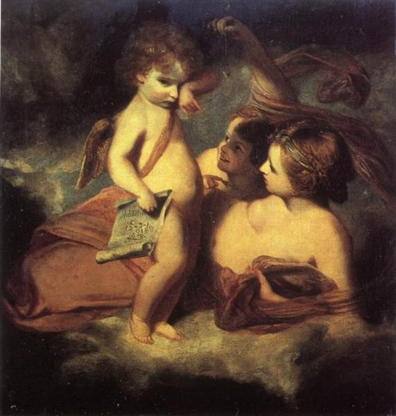 Venus Chiding Cupid for Learning to Cast Accounts - Reynolds Joshua