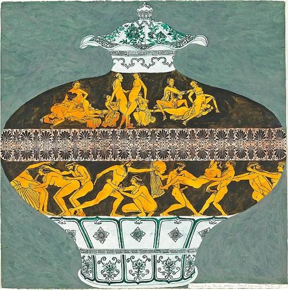 Smut Dynasty Vase (Pornament is Crime Series), 1987 - Джойс Козлоф