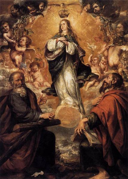 Virgin of the Immaculate Conception with Sts Andrew and John the Baptist, 1672 - Juan de Valdés Leal