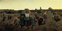 The Recall of the Gleaners - Jules Breton
