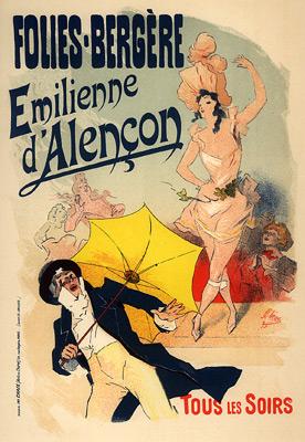 Folies Bergères, Emilienne d'Alençon, 1900 - Jules Cheret