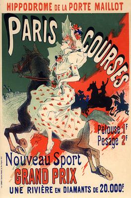 Hippodrome de la Porte Maillot, Paris Courses, 1900 - Jules Cheret
