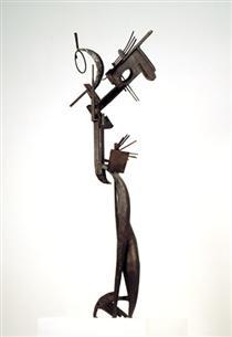 Femme au miroir - Julio Gonzalez