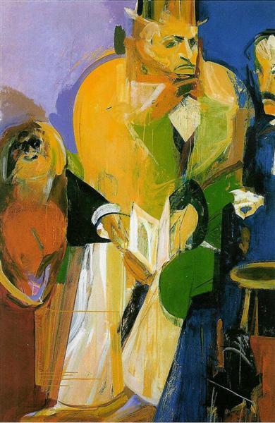 Edgar Poe, Charles Baudelaire, Um Orangotango e o Corvo, 1985 - Julio Pomar
