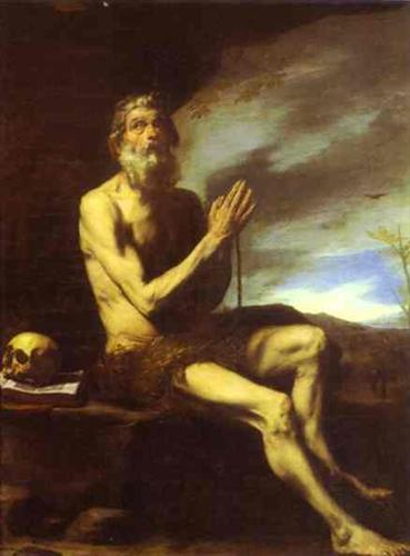 Jusepe de Ribera (1591-1652): Den hellige Paulus eremitten (ca 1650), Musée du Louvre i Paris