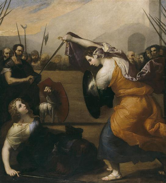 The Duel of Women (The Duel of Isabella de Carazzi and Diambra de Pettinella), 1636 - Jusepe de Ribera
