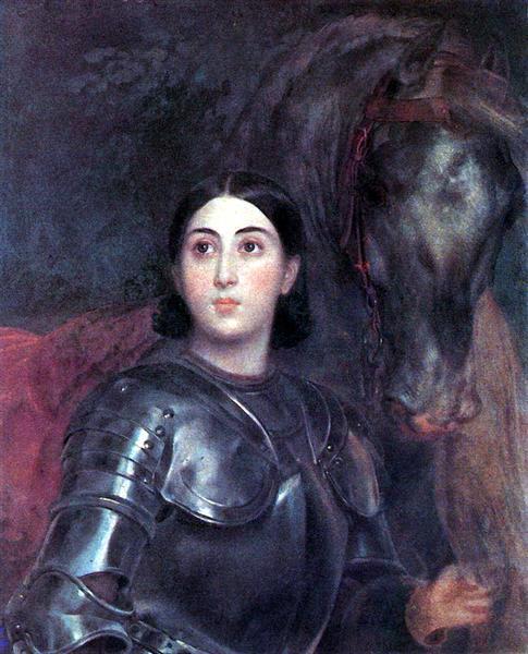 Juliet Tittoni as Jeanna D'Ark, 1850 - 1852 - Karl Briulov