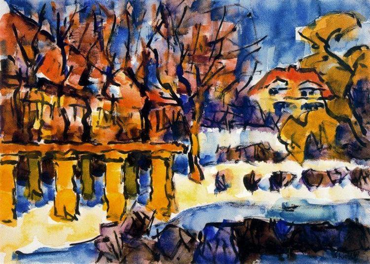 Garden in Winter, 1969 - Karl Schmidt-Rottluff