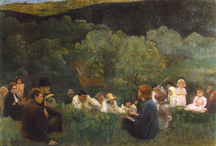 Sermon on the Mountain, 1896 - Карой Ференці